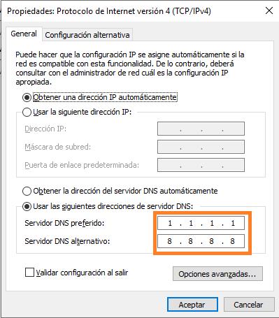 Servidor DNS Gratis