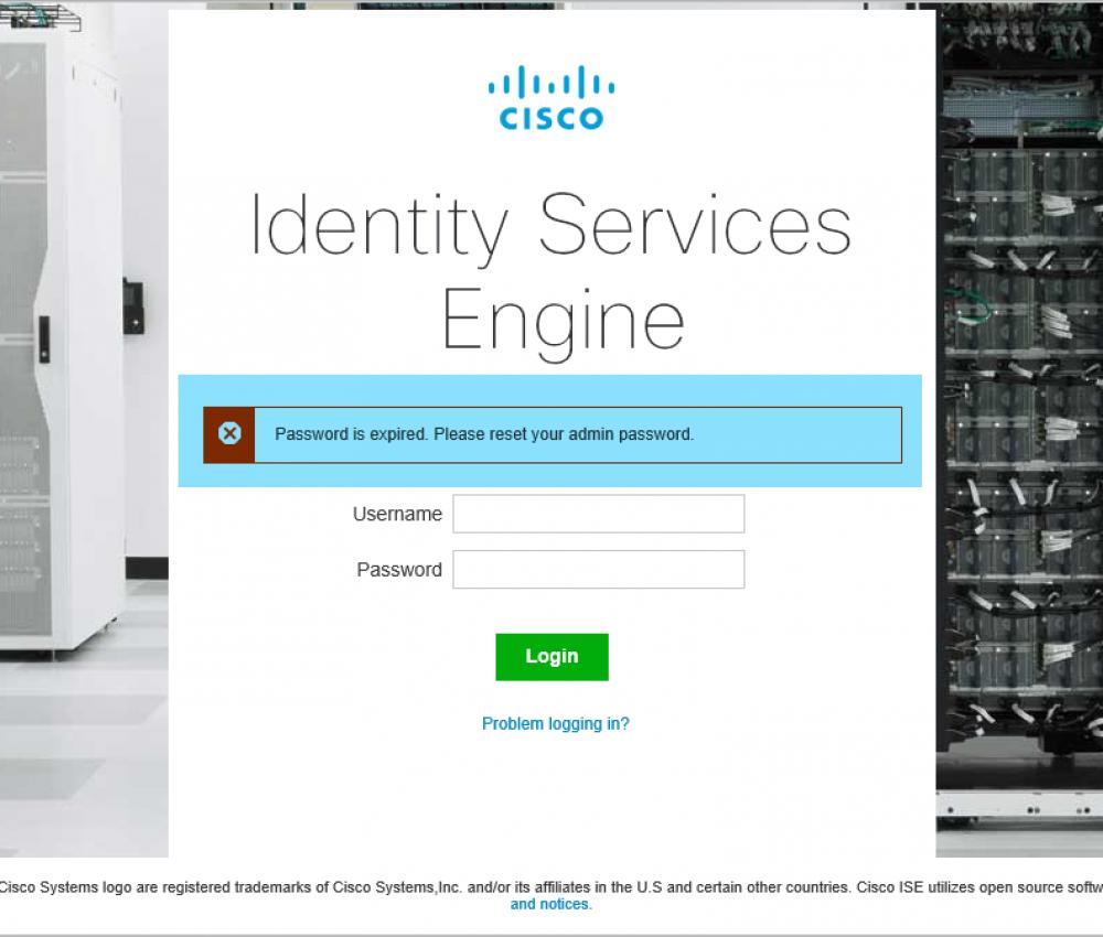 Cisco ISE Reset Admin Password